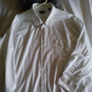 Men's Big Fit White Oxford Shirt